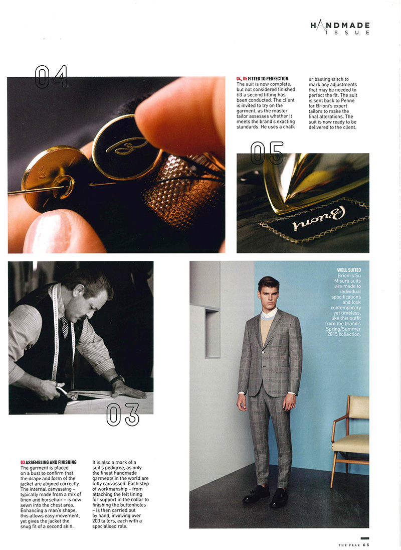 Print - July 2015 - The Peak - Brioni 1